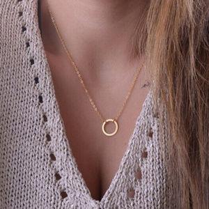 ⭐️Boho chain circle Necklace jewelry